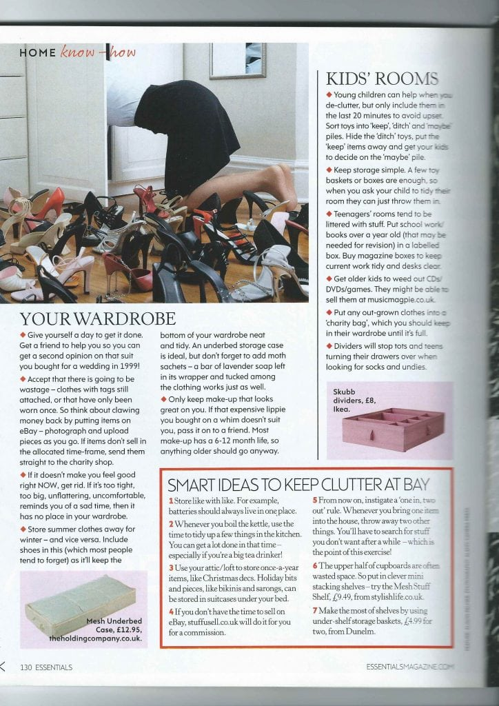 Essentials Magazine Article March 2014 Address The Mess Page 3