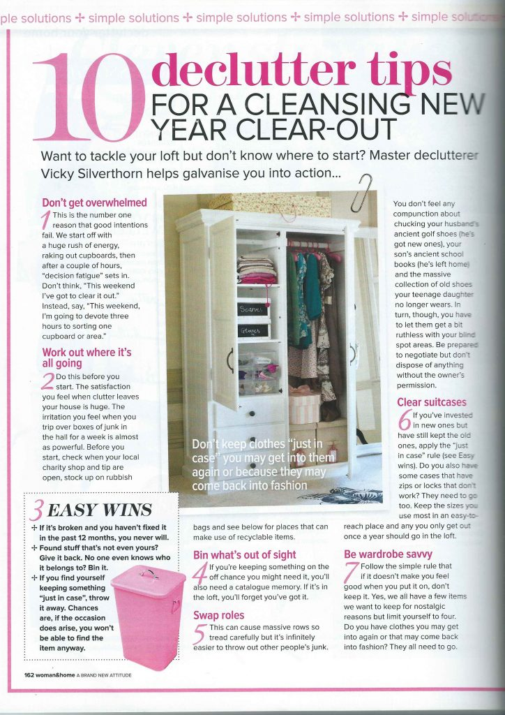 Woman and Home February 2014 Article Page 1