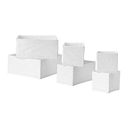 IKEA Skubb Boxes – Set of 6 – White