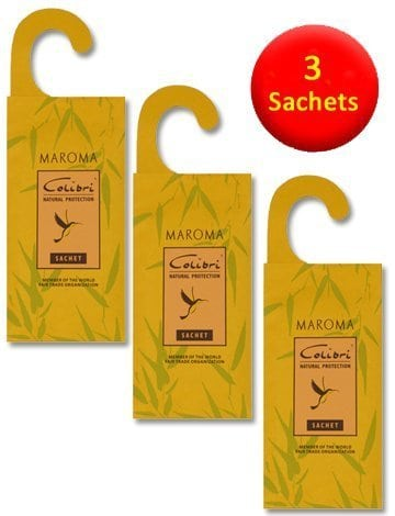 3 Hanging Anti-Moth Lemongrass Sachets