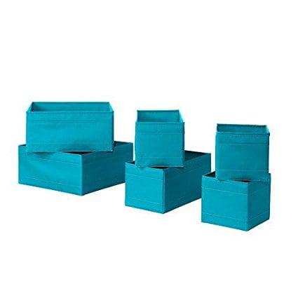 IKEA Skubb Boxes – Set of 6 – Blue
