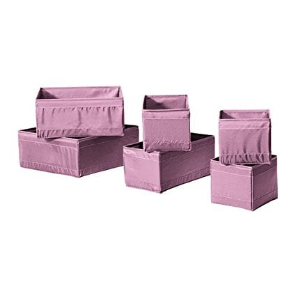 IKEA Skubb Boxes – Set of 6 – Pink