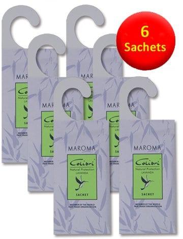 6 Hanging Anti-Moth Lavender Sachets