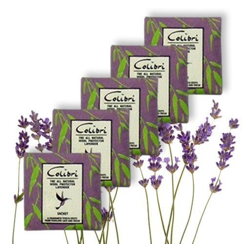 Pack of 10 Natural Moth Repellent Sachets – Lavender