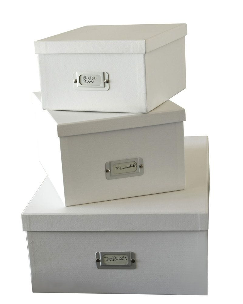 The Holding Company Inge Office Storage Boxes – Set Of 3