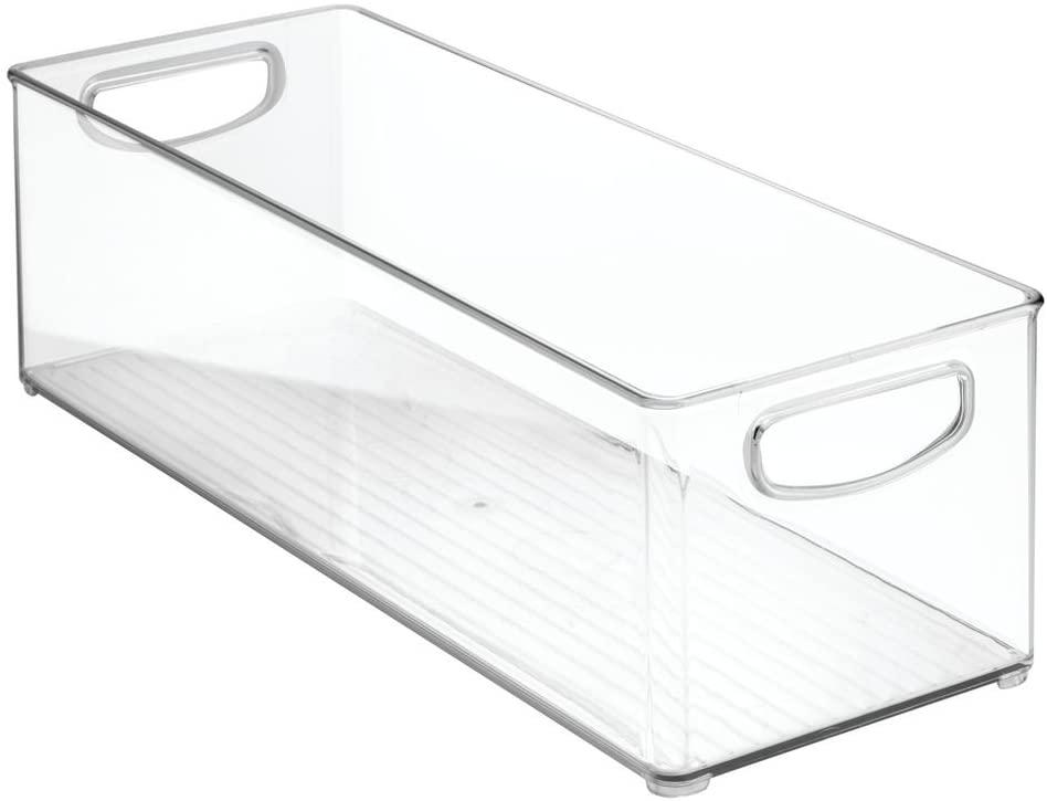 iDesign Large Slim Plastic Fridge/Pantry Container