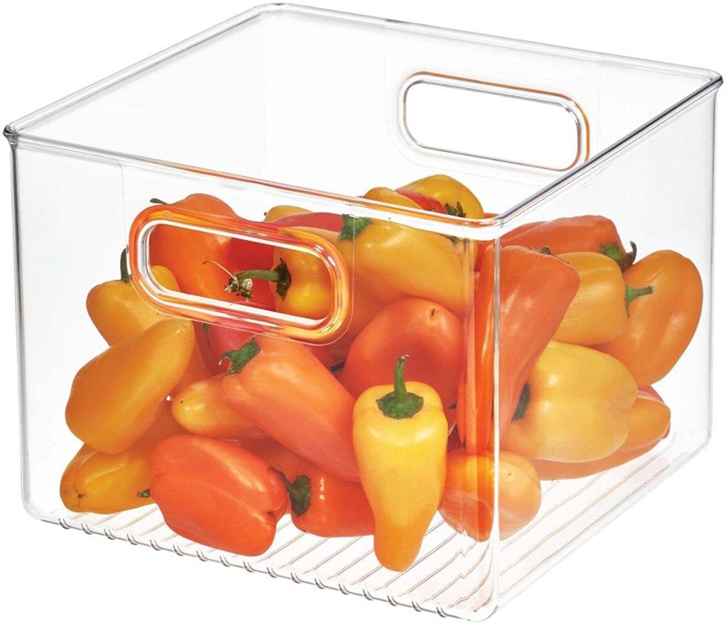 iDesign Deep Plastic Fridge/Pantry Container